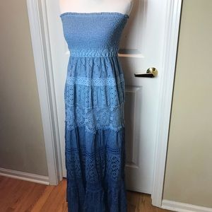 Boston Proper | Maxi Dress, Blue, Sz M